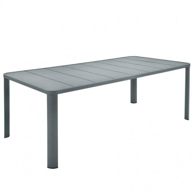 На фото: Обідній стіл Oléron 5531 Storm Grey (553126), Стіл Oléron 205х100 Fermob, каталог, ціна