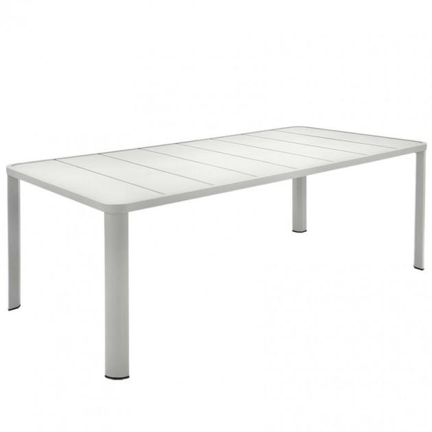 На фото: Обідній стіл Oléron 5531 Steel Grey (553138), Стіл Oléron 205х100 Fermob, каталог, ціна