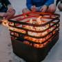 На фото: Вогнище-гриль Cube Rusty (020102), Гриль і BBQ Höfats, каталог, ціна