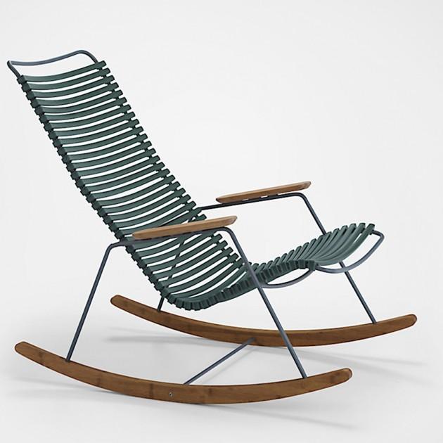 На фото: Крісло-гойдалка Click Pine Green (10804-1118), Вуличні крісла-гойдалки Houe, каталог, ціна