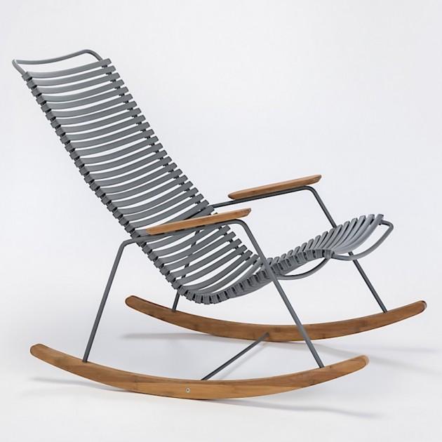 На фото: Крісло-гойдалка Click Dark Grey (10804-7018), Вуличні крісла-гойдалки Houe, каталог, ціна