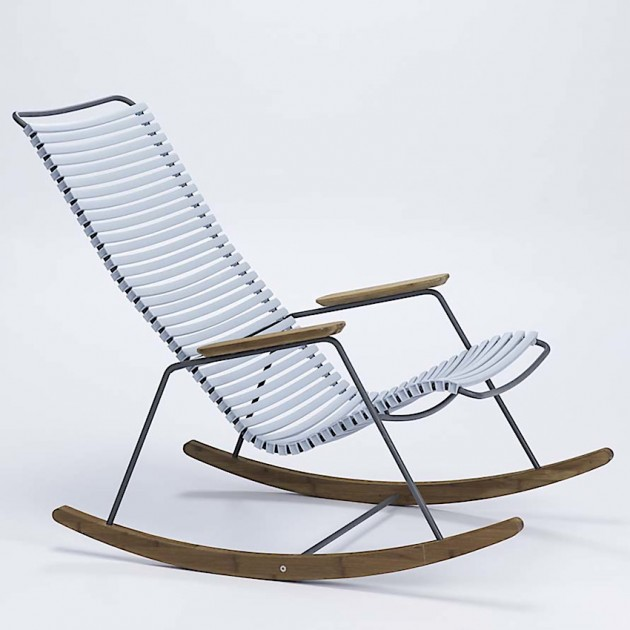 На фото: Крісло-гойдалка Click Light Blue (10804-8018), Вуличні крісла-гойдалки Houe, каталог, ціна