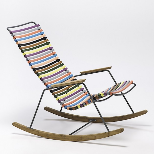 На фото: Крісло-гойдалка Click Multicolor (10804-8318), Вуличні крісла-гойдалки Houe, каталог, ціна
