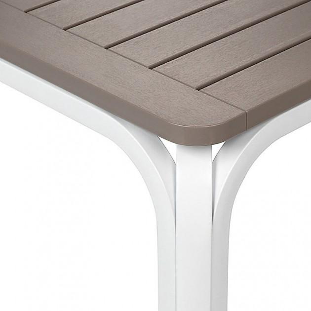 На фото: Розкладний стіл Alloro 140 Bianco Tortora (42753.10.000), Пластикові столи Nardi, каталог, ціна
