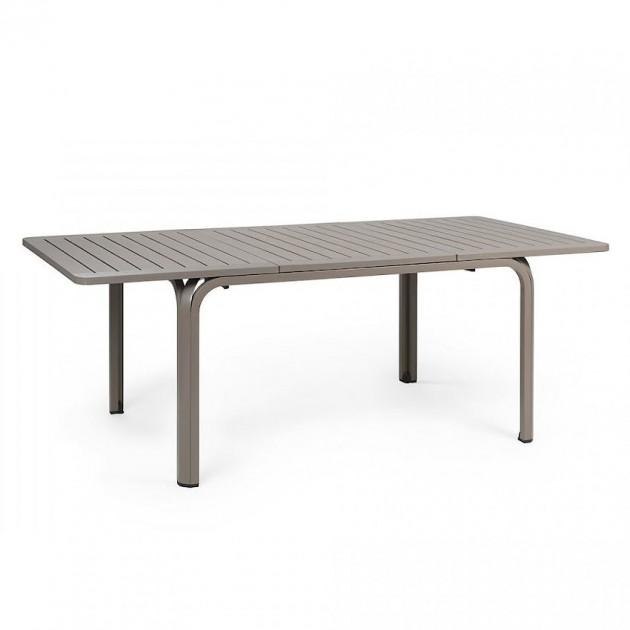 На фото: Розкладний стіл Alloro 140 Tortora (42759.10.000), Пластикові столи Nardi, каталог, ціна