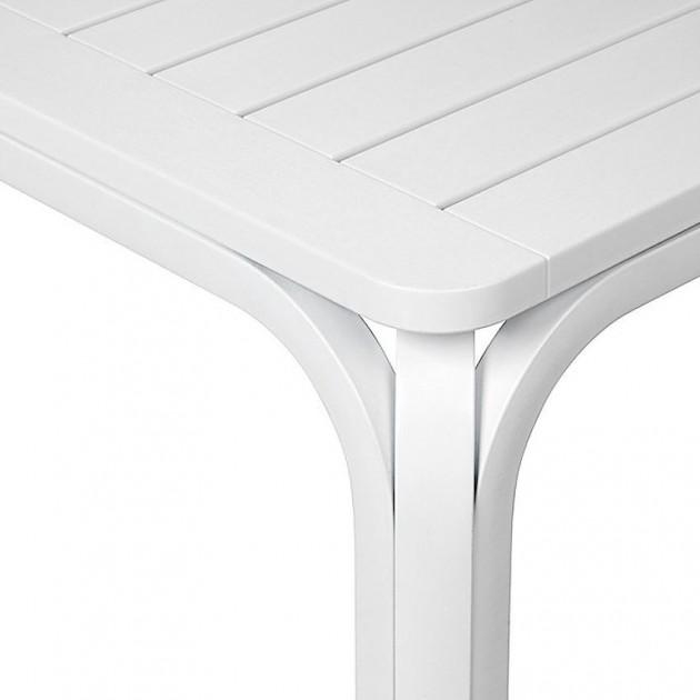 На фото: Великий розкладний стіл Alloro 210 Bianco (42853.00.000), Пластикові столи Nardi, каталог, ціна