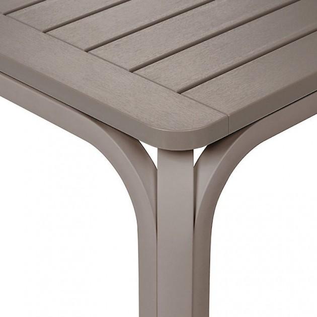 На фото: Великий розкладний стіл Alloro 210 Tortora (42859.10.000), Пластикові столи Nardi, каталог, ціна