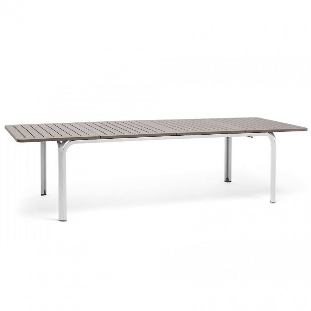 На фото: Великий розкладний стіл Alloro 210 Bianco Tortora (42853.10.000), Пластикові столи Nardi, каталог, ціна