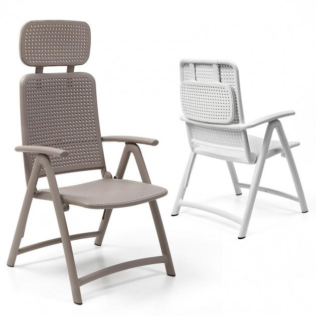 На фото: Крісло-шезлонг Acquamarina Bianco (40314.00.000), Пластикові крісла Nardi, каталог, ціна
