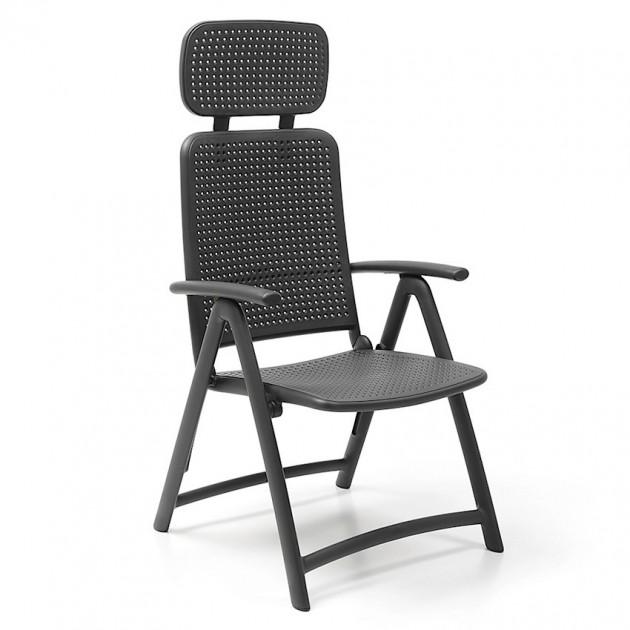 На фото: Крісло-шезлонг Acquamarina Antracite (40314.02.000), Пластикові крісла Nardi, каталог, ціна