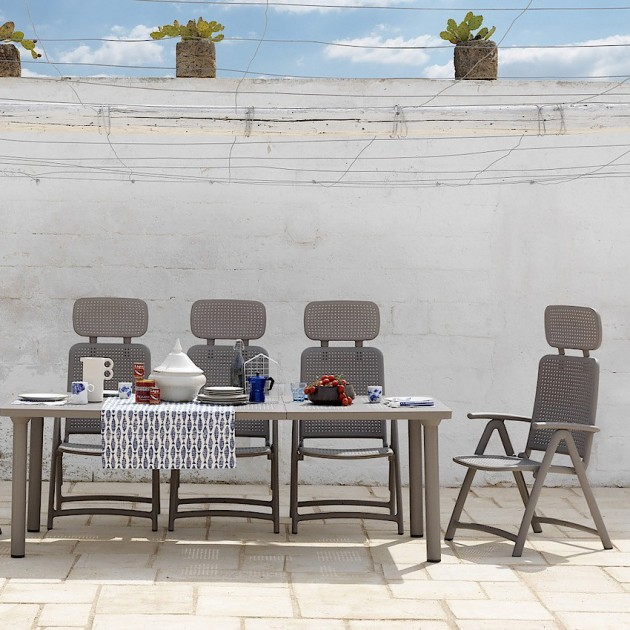 На фото: Крісло-шезлонг Acquamarina Tortora (40314.10.000), Пластикові крісла Nardi, каталог, ціна