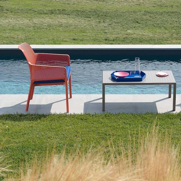 На фото: Столик Aria 100 Tortora (40052.10.000), Пластикові столи Nardi, каталог, ціна