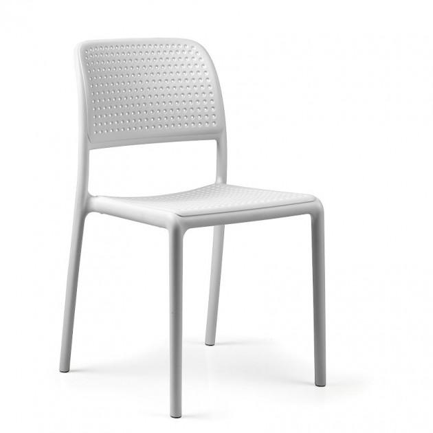 На фото: Стілець Bora Bistrot Bianco (40243.00.000), Пластикові стільці Nardi, каталог, ціна