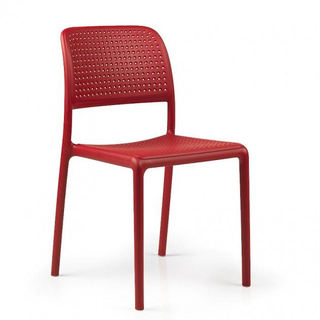 На фото: Стілець Bora Bistrot Rosso (40243.07.000), Пластикові стільці Nardi, каталог, ціна