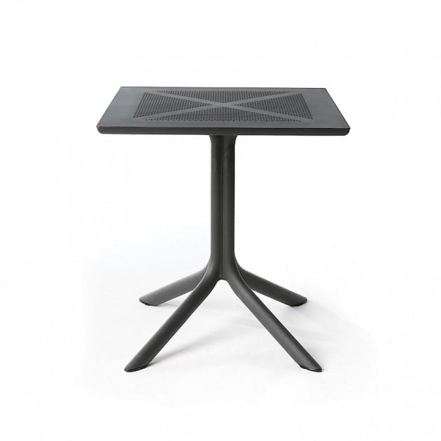 На фото: Пластиковий стіл ClipX 70 Antracite (40085.02.000), Пластикові столи Nardi, каталог, ціна