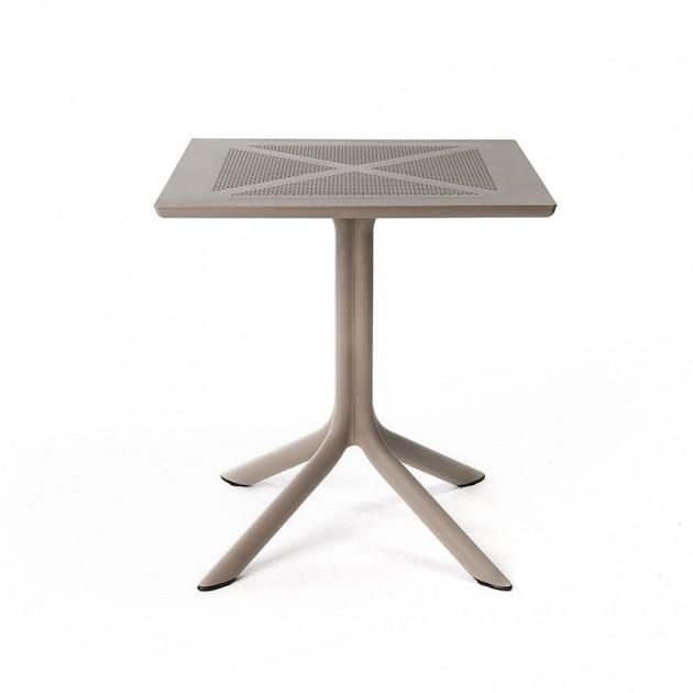 На фото: Пластиковий стіл ClipX 70 Tortora (40085.10.000), Пластикові столи Nardi, каталог, ціна