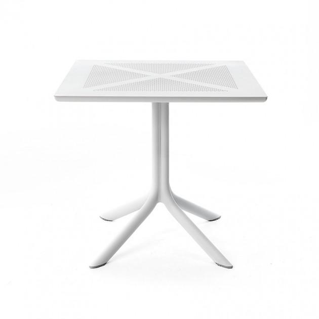 На фото: Пластиковий стіл ClipX 80 Bianco (40083.00.000), Пластикові столи Nardi, каталог, ціна