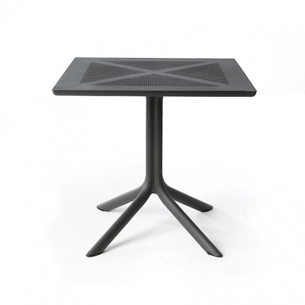 На фото: Пластиковий стіл ClipX 80 Antracite (40083.02.000), Пластикові столи Nardi, каталог, ціна