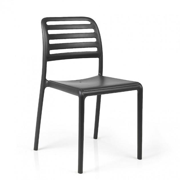 На фото: Стілець Costa Bistrot Antracite (40245.02.000), Пластикові стільці Nardi, каталог, ціна