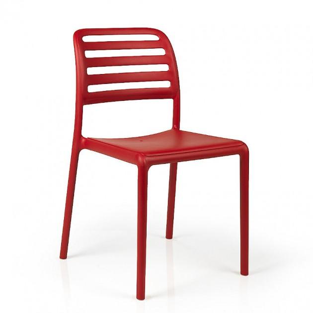 На фото: Стілець Costa Bistrot Rosso (40245.07.000), Пластикові стільці Nardi, каталог, ціна