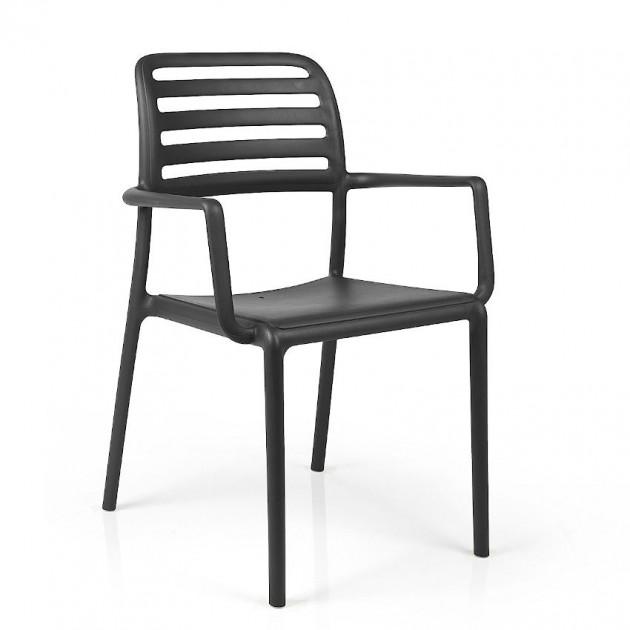 На фото: Стілець Costa Antracite (40244.02.000), Пластикові стільці Nardi, каталог, ціна