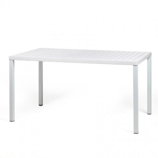 На фото: Обідній стіл Cube 140 Bianco (47753.00.000), Пластикові столи Nardi, каталог, ціна