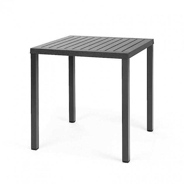 На фото: Квадратний стіл Cube 70 Antracite (47852.02.000), Пластикові столи Nardi, каталог, ціна