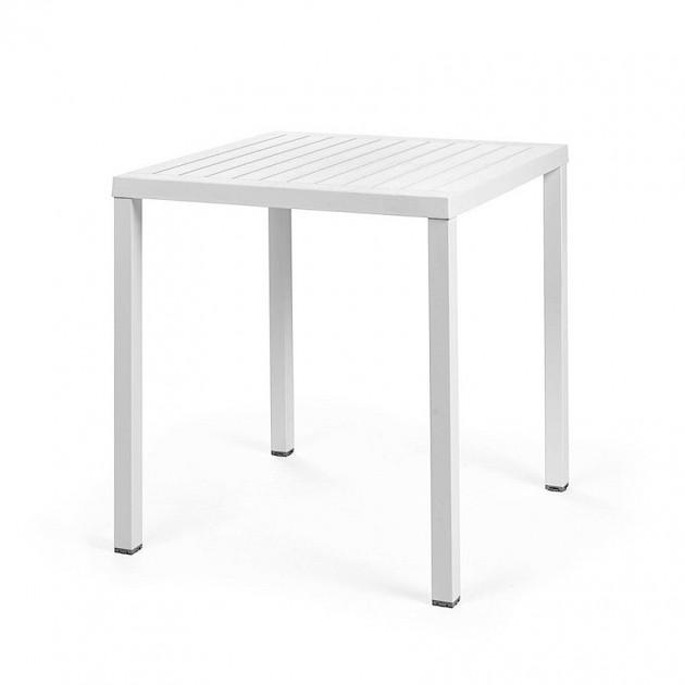 На фото: Квадратний стіл Cube 70 Bianco (47853.00.000), Пластикові столи Nardi, каталог, ціна