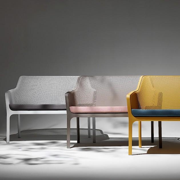На фото: Комплект Net Bench Relax Bianco (k40338.00.000), Диванні комплекти з пластику Nardi, каталог, ціна