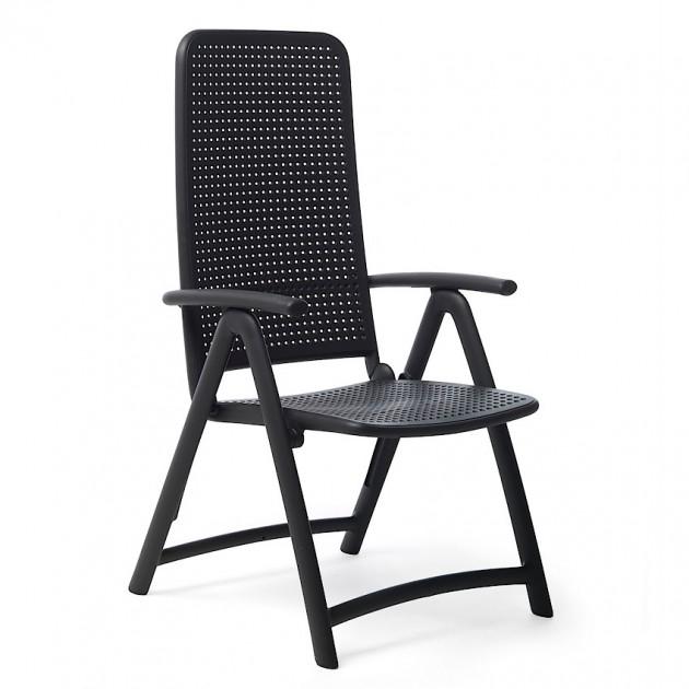 На фото: Крісло-шезлонг Darsena Antracite (40316.02.000), Пластикові крісла Nardi, каталог, ціна