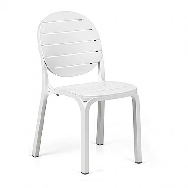 На фото: Стілець Erica Bianco (40236.00.000), Пластикові стільці Nardi, каталог, ціна