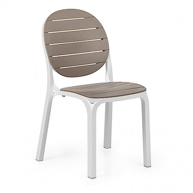На фото: Стілець Erica Bianco Tortora (40236.00.010), Пластикові стільці Nardi, каталог, ціна