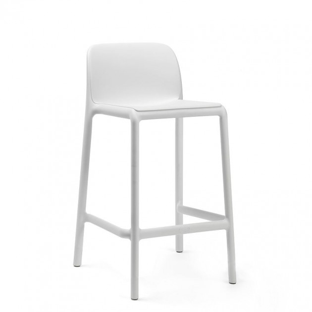 На фото: Напівбарний стілець Faro Mini Bianco (40347.00.000), Барні стільці Nardi, каталог, ціна