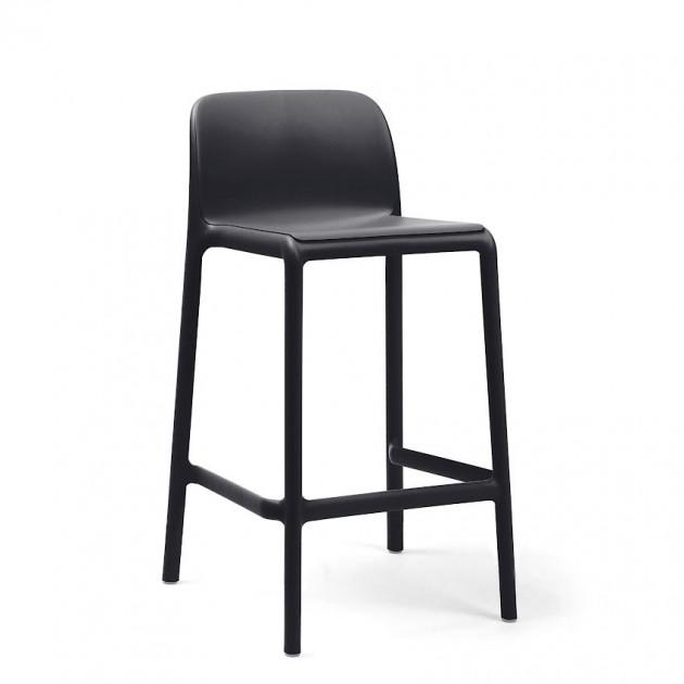 На фото: Напівбарний стілець Faro Mini Antracite (40347.02.000), Барні стільці Nardi, каталог, ціна
