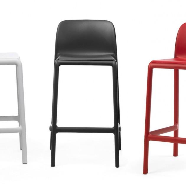 На фото: Напівбарний стілець Faro Mini Rosso (40347.07.000), Барні стільці Nardi, каталог, ціна