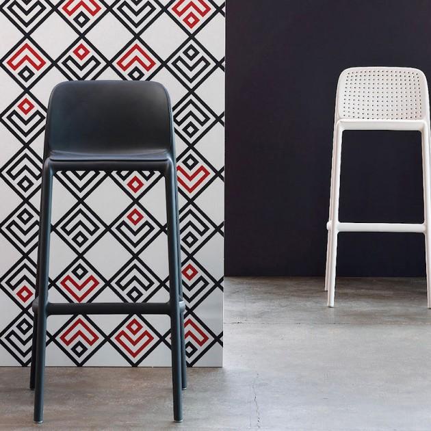 На фото: Барний стілець Faro Bianco (40346.00.000), Барні стільці Nardi, каталог, ціна