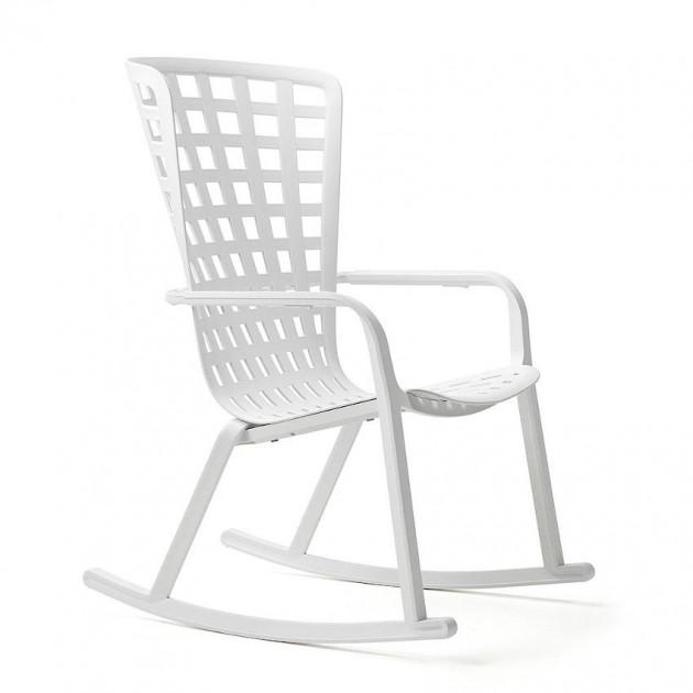 На фото: Крісло-гойдалка Folio Rocking Bianco (40298.00.000), Вуличні крісла-гойдалки Nardi, каталог, ціна