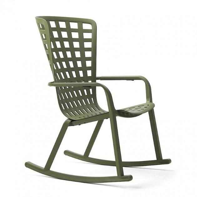 На фото: Крісло-гойдалка Folio Rocking Agave (40298.16.000), Вуличні крісла-гойдалки Nardi, каталог, ціна