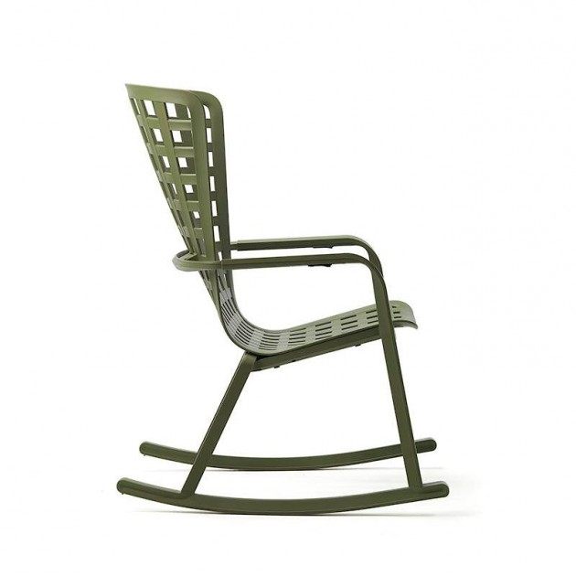 На фото: Крісло-гойдалка Folio Rocking Antracite (40298.02.000), Вуличні крісла-гойдалки Nardi, каталог, ціна