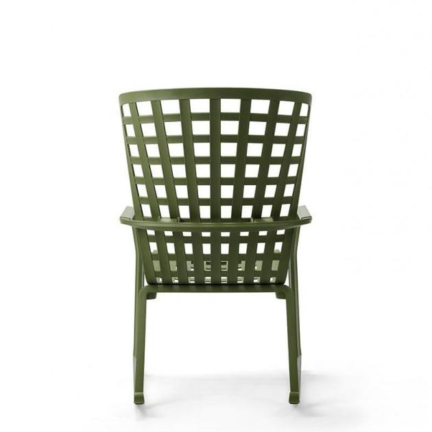На фото: Крісло-гойдалка Folio Rocking Tabacco (40298.53.000), Вуличні крісла-гойдалки Nardi, каталог, ціна