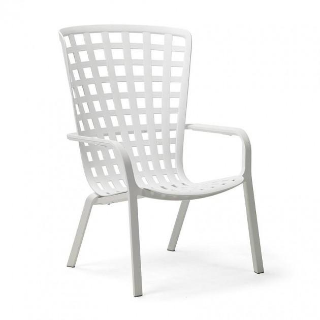 На фото: Крісло для відпочинку Folio Bianco (40300.00.000), Пластикові крісла Nardi, каталог, ціна