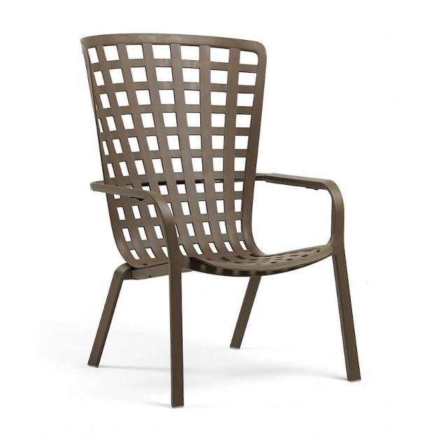 На фото: Крісло для відпочинку Folio Tabacco (40300.53.000), Пластикові крісла Nardi, каталог, ціна