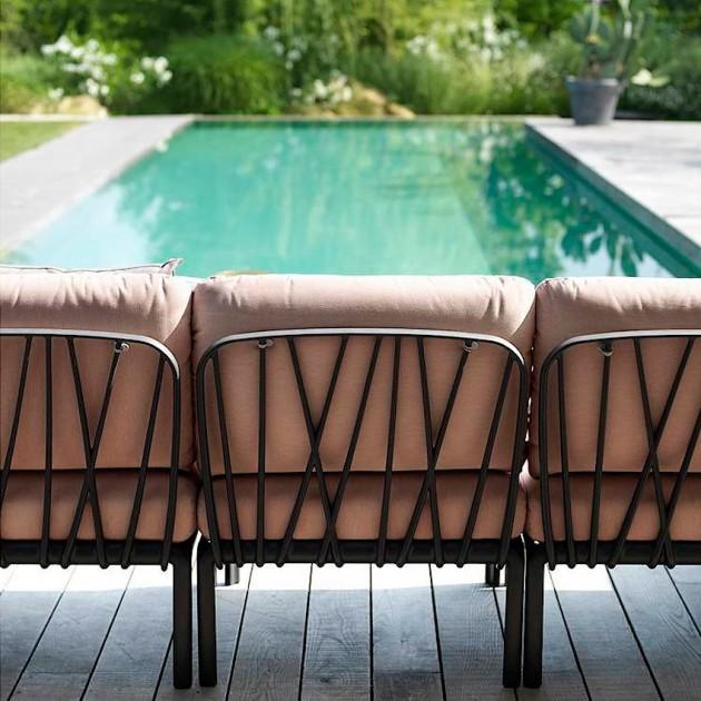 На фото: Модуль Komodo Centrale Bianco Canvas Sunbrella® laminato (40373.00.170), Центральний модуль Komodo Elemento Centrale Nardi, каталог, ціна