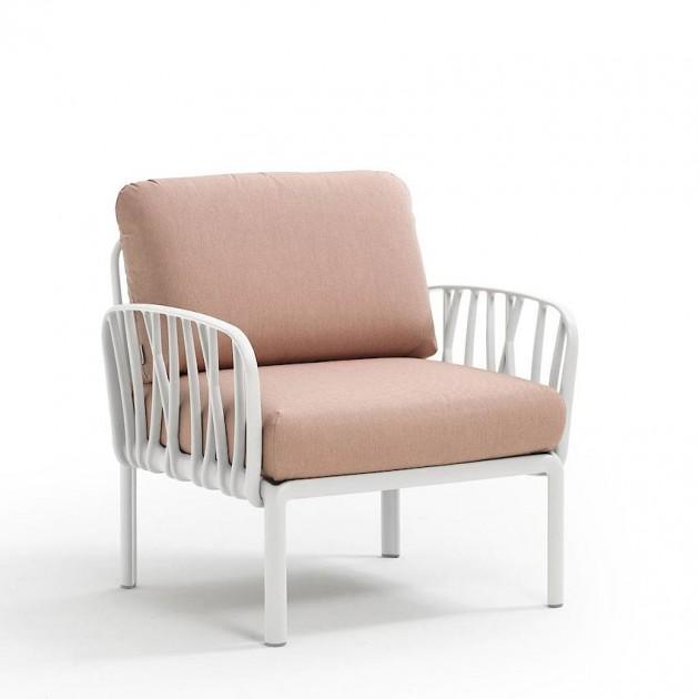 На фото: Модульне крісло Komodo Poltrona Bianco Rosa Quarzo (40371.00.066), Лаунж крісла Nardi, каталог, ціна