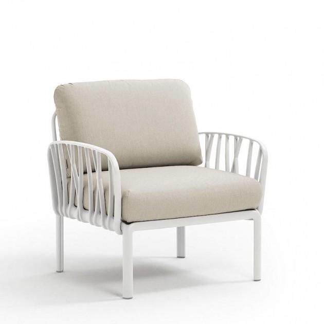 На фото: Модульне крісло Komodo Poltrona Bianco Tech Panama (40371.00.131), Вуличне крісло Komodo Poltrona Nardi, каталог, ціна