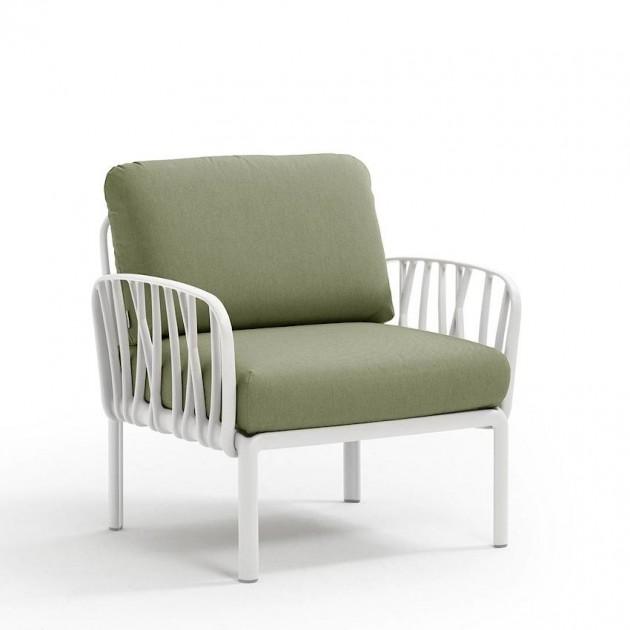 На фото: Модульне крісло Komodo Poltrona Bianco Giungla Sunbrella® (40371.00.140), Вуличне крісло Komodo Poltrona Nardi, каталог, ціна