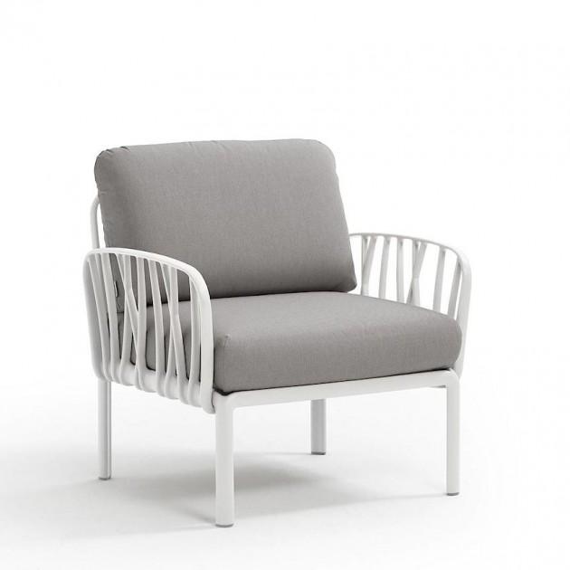 На фото: Модульне крісло Komodo Poltrona Bianco Grigio (40371.00.163), Лаунж крісла Nardi, каталог, ціна