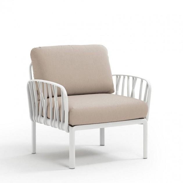 На фото: Модульне крісло Komodo Poltrona Bianco Canvas Sunbrella® laminato (40371.00.170), Вуличне крісло Komodo Poltrona Nardi, каталог, ціна