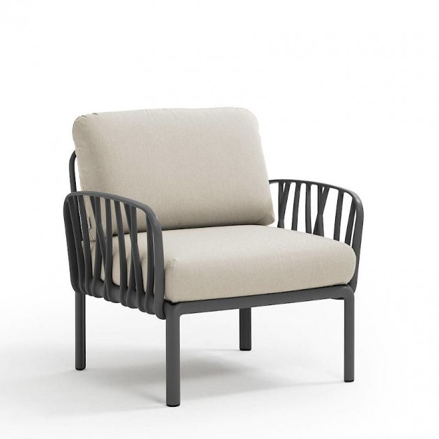 На фото: Модульне крісло Komodo Poltrona Antracite Tech Panama (40371.02.131), Вуличне крісло Komodo Poltrona Nardi, каталог, ціна