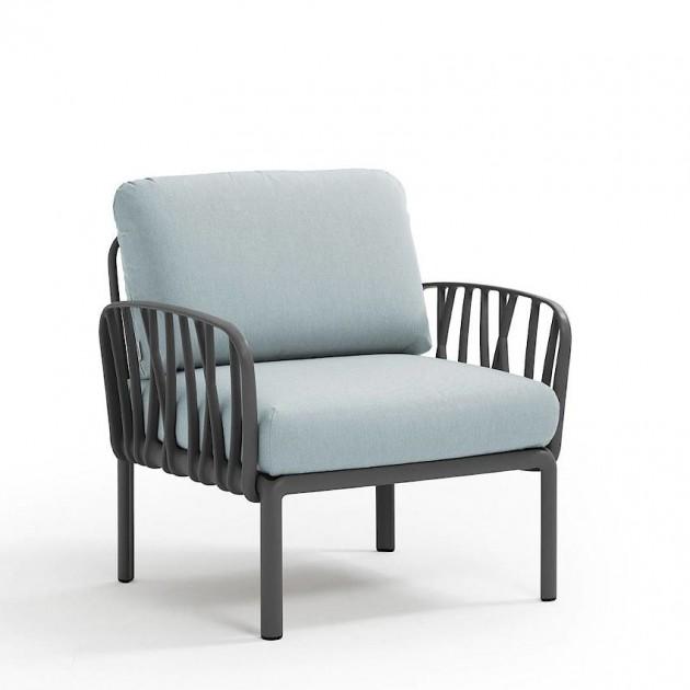 На фото: Модульне крісло Komodo Poltrona Antracite Ghiaccio Sunbrella® (40371.02.138), Вуличне крісло Komodo Poltrona Nardi, каталог, ціна